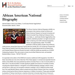 African American National Biography | W.E.B. Du Bois Institute
