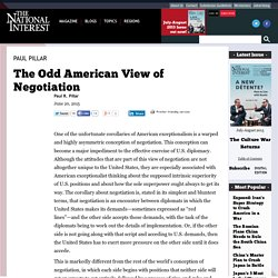 The Odd American View of Negotiation