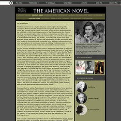 The American Novel . Six Novel Ideas . American Dreams