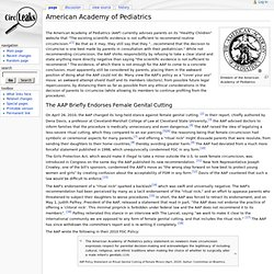 American Academy of Pediatrics - CircLeaks