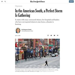 In the American South, a Perfect Storm Is Gathering
