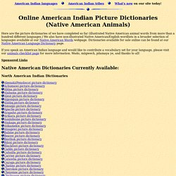 Online Native American Picture Dictionaries (American Indian Animals)