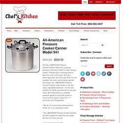 All-American Pressure Cooker/Canner Model 941 - Chef's Kitchen