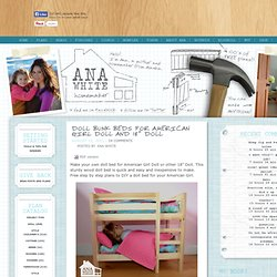 "Build Wood Bunk Beds For AG & 18"" Doll"