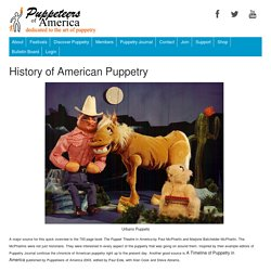 History of American Puppetry
