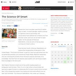 American RadioWorks: The Science Of Smart