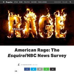 Esquire/NBC >> American Rage Survey