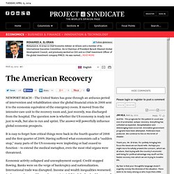 """The American Recovery"" by Mohamed A El-Erian"