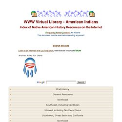Index of Native American History Resources on the Internet