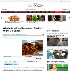 Which American Restaurant Chains Might Go Under?