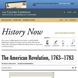 The American Revolution, 1763–1783