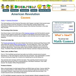 American Revolution for Kids: Causes