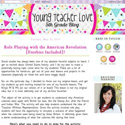 Young Teacher Love: Role Playing with the American Revolution {Freebies Included}!