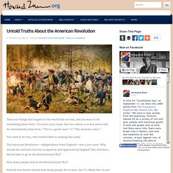 Untold Truths About the American Revolution