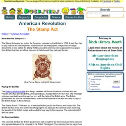 American Revolution for Kids: The Stamp Act