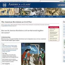 The American Revolution - Lesson Plan
