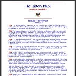 American Revolution: Prelude to Revolution
