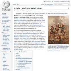 Patriot (American Revolution) - Wikipedia