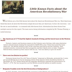 American Revolutionary Facts
