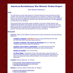 American Revolutionary War Project