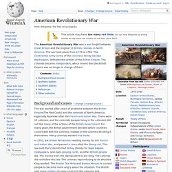 American Revolutionary War - Simple English Wikipedia, the ...