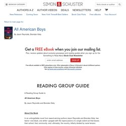 All American Boys - Reading Group Guide