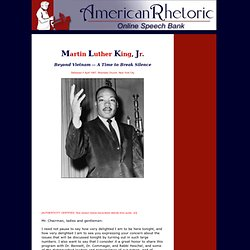 Martin Luther King, Jr. --  ...