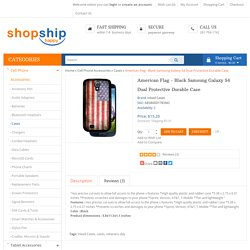 American Flag - Black Samsung Galaxy S4 Dual Protective Durable Case