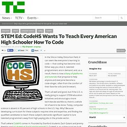 STEM Ed: CodeHS Wants To Teach Every American High Schooler How To Code