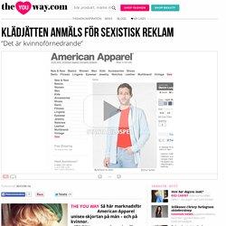 American Apparel anmäls för sexistisk reklam