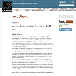 Facts on American Teens' Sexual and Reproductive Health