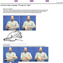 American Sign Language - Night