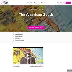 The American South - Free online course