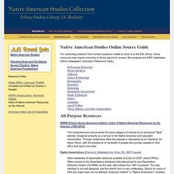 Native American Studies Online Source Guide