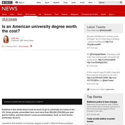 Is an American university degree worth the cost? - BBC News