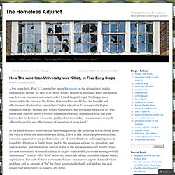 How The American University was Killed, in Five Easy Steps