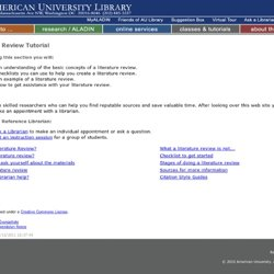 University Library - Literature Review Tutorial