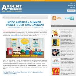McDo American Summer : vignette jeu 100% gagnant