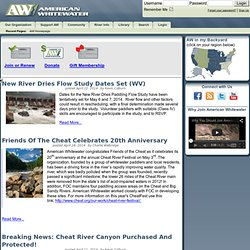 American Whitewater - AW Homepage