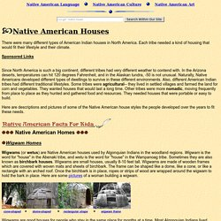 Native American Homes: Wigwams, Longhouses, Tepees, Lodges, and other American Indian houses