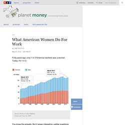 What American Women Do For Work : Planet Money