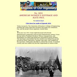 2651: American Women's Suffrage and Alice Paul