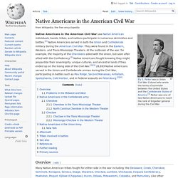 Native Americans in the American Civil War - Wikipedia