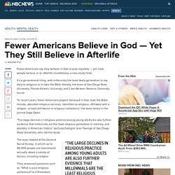 Fewer Americans Believe in God — Yet They Still Believe in Afterlife
