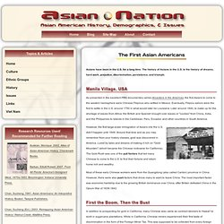 The First Asian Americans : Asian-Nation :: Asian American History, Demographics, & Issues