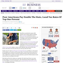 Poor Americans Pay Double The State, Local Tax Rates Of Top One Percent