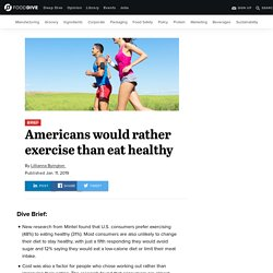 Americans would rather exercise than eat healthy