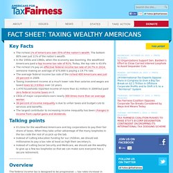 Americans for Tax Fairness » Fact Sheet: Taxing Wealthy Americans