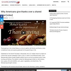 Americans gather for Thanksgiving