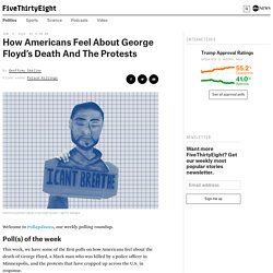 How Americans Feel About George Floyd's Death And The Protests